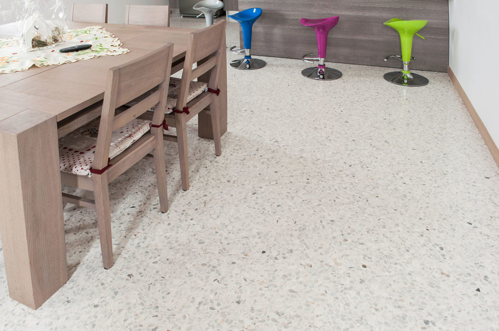 Pavimenti alla Veneziana in graniglia texture, Seminato alla veneziana - cucina Mario Canil