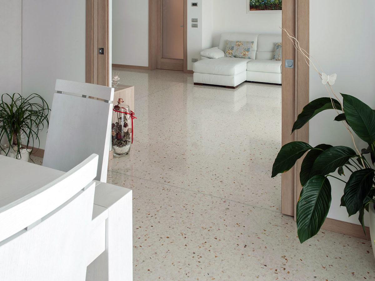 Appartamento con pavimento alla Veneziana