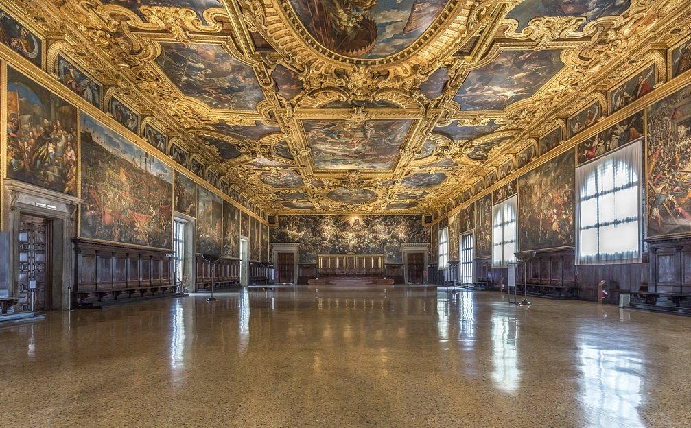 Venezia-Palazzo-Ducale-Interno-della-Sala-del-Maggior-Consiglio - Pavimento alla Veneziana Mario Canil