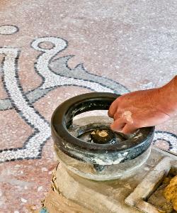 Lucidatura Pavimento Alla Veneziana - graniglia texture Mario Canil